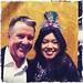 wearing a crafty chica glittery crown with Larry Duncan at ILTC booth!