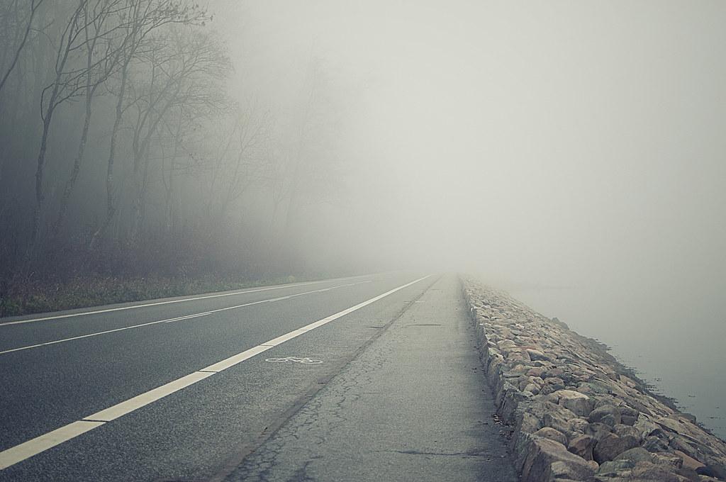 foggy road ile ilgili görsel sonucu