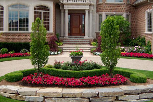 Circular driveway design by paul marcial landscapes flickr - Circular flower bed designs ...