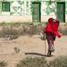 Old woman in red near Berbera - Somaliland