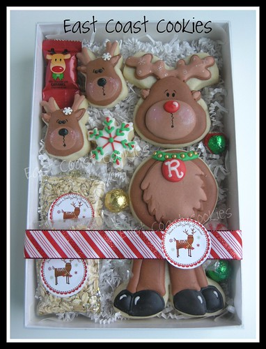 Segmented Reindeer cookie | by Coastal Cookie Shoppe (was east coast cookies)