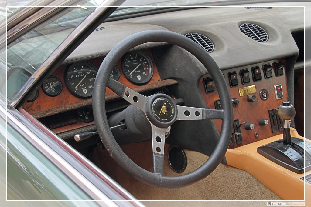 Lamborghini Jarama Interior 1970 Lamborghini Jarama 03