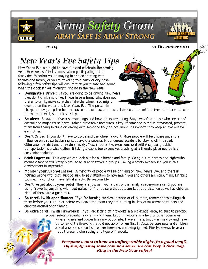 Safety Gram 12-04 New Year's Eve Safety Tips   You're ...
