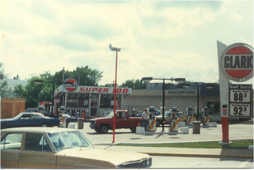 Arco Gas Station >> Clark Super 100 gas station, 1987 | Flickr - Photo Sharing!