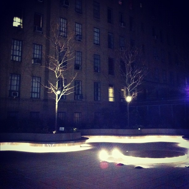 by mallisser under bench lighting or glowing courtyard snake by mallisser bench lighting