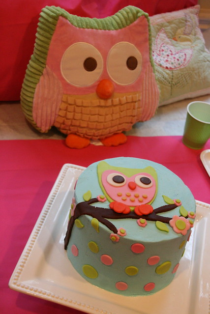 Owl Cake For 8 Year Old Birthday Flickr Photo Sharing