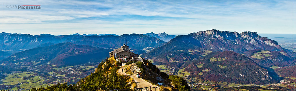 Eagles >> Panorama of Kehlsteinhaus | A panorama shot from eagles ...