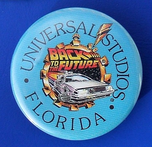Back to the Future theme ride, Universal Studios (Florida) - merchandise badge (c.1991) | by RETRO STU