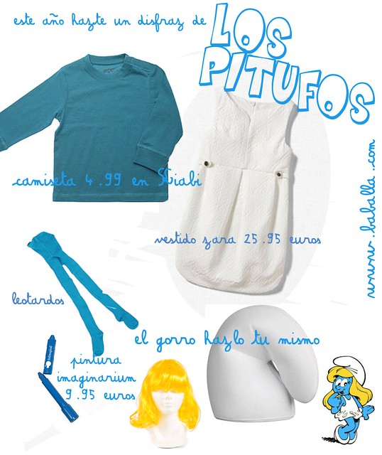 Como hacer disfraz de pitufina - Imagui