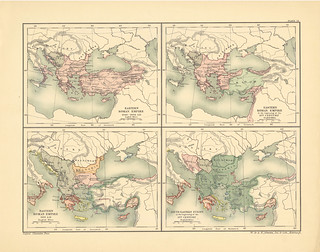 Map page of Section LXXIII The Eastern Roman Empire from the Death of Basil II to its fall (1025-1472) from Part XIX of Historical atlas of modern Europe from the decline of the Roman empire : comprising also maps of parts of Asia and of the New world con | by uconnlibrariesmagic