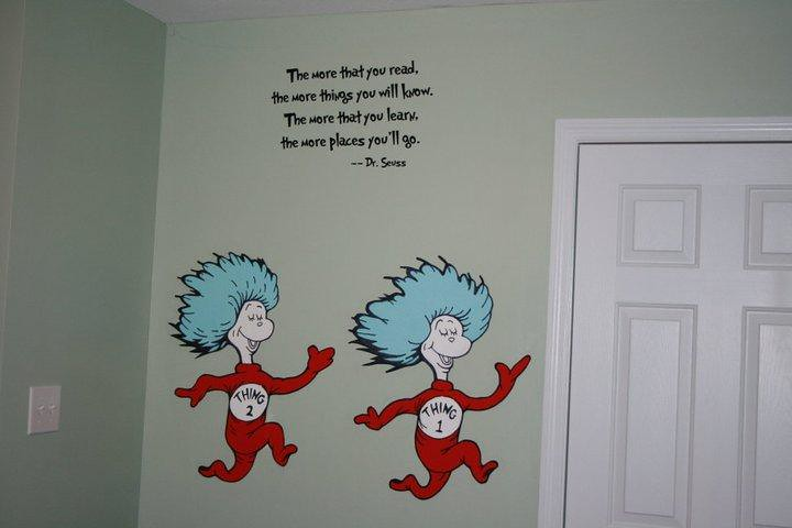 Dr Seuss Dr Suess Theme Wallpaper Wall Paper Art Sticker