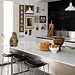 Mark Gregory Peters {white clean modern kitchen with a blackboard}