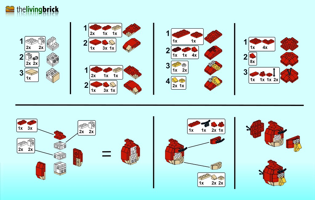 All Sizes Lego Angry Bird Mini Instructions Flickr Photo