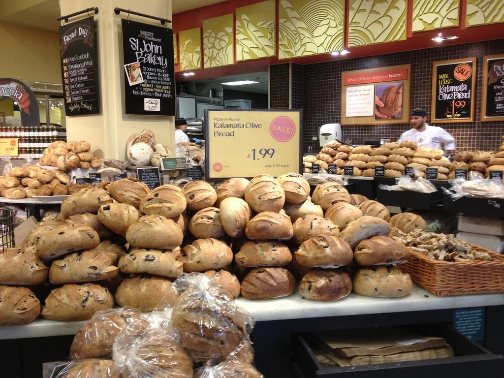 Kalamata Olive bread | Wholefoods London | tedesco57 | Flickr
