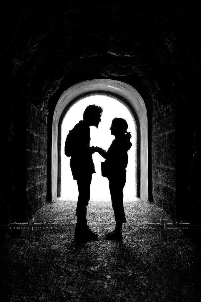 The Romantic Tunnel By Dfn Noir  Blanc Black  White -8273
