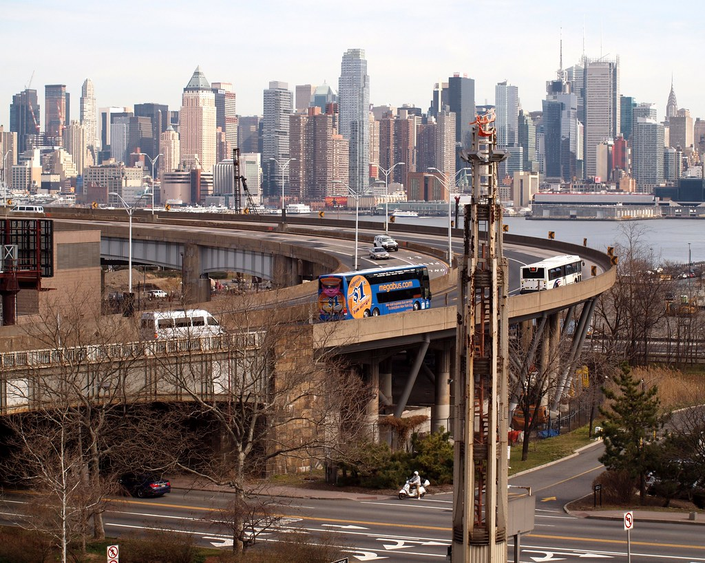 Weehawken Helix And Lincoln Tunnel Entrance New Jersey