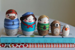 Needle felted Sailor crew | by Val Hebert