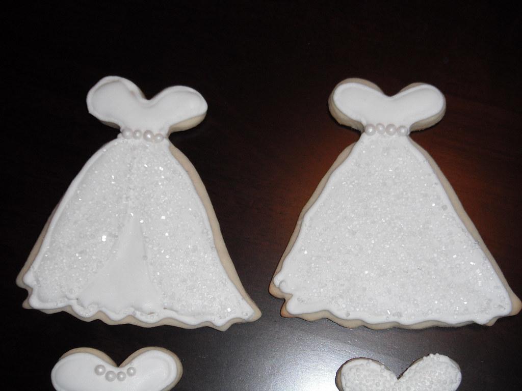 Wedding Dress Cookies Wedding Dress Sugar Cookies