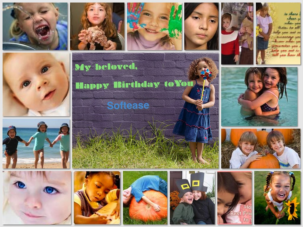 happy birthday pic collage