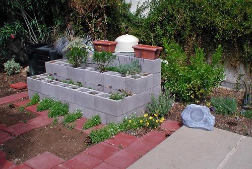 Raised Garden Bed - concrete block | Flickr - Photo Sharing!