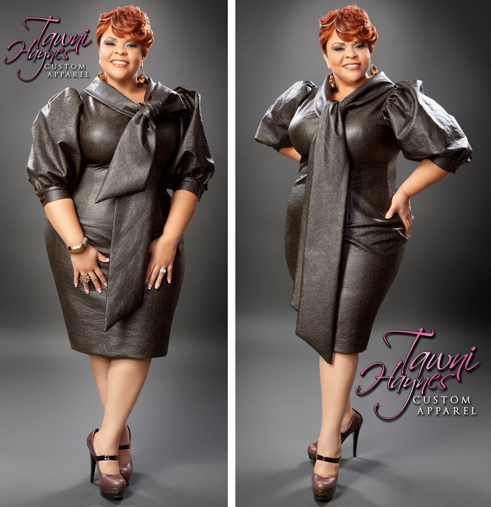 Tamela Mann In Tawni Haynes Custom Apparel Leather Bow Pe