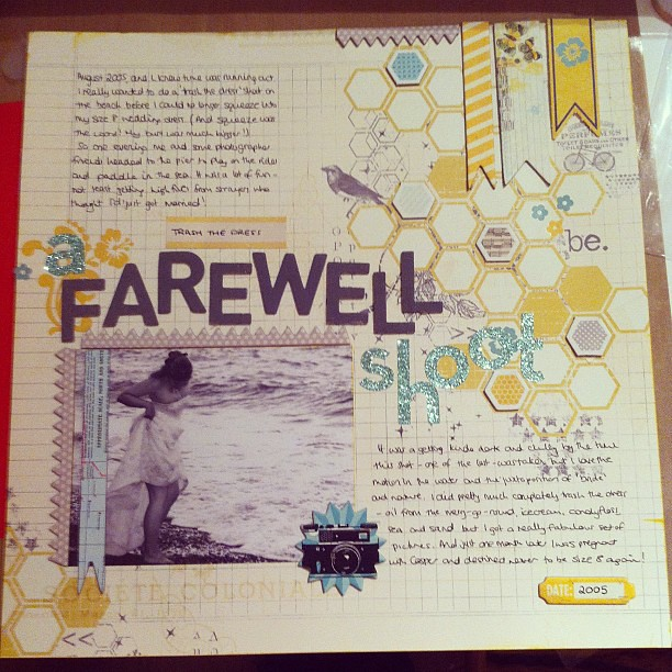 A farewell shoot layout scrapbook via instagram for Farewell scrapbook template