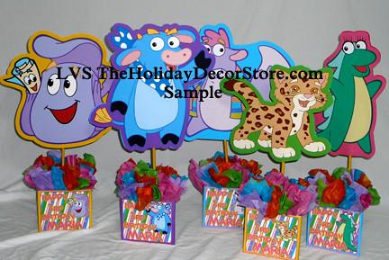 Dora The Explorer Birthday Centerpiece Decorations Handmad
