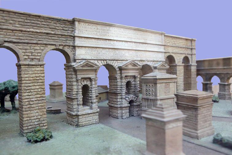Porta maggiore model reconstruction reconstruction for Porta maggiore