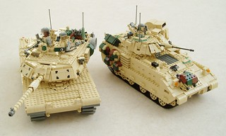 M1A1 Abrams and M2A2 Bradley (1) | by Mad physicist