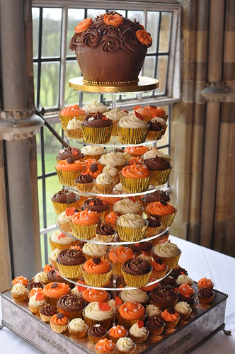 Autumn Colours Cupcake Wedding