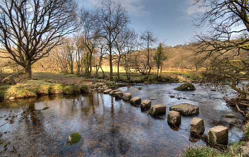 Stepping Stones over the East Dart river - Explore 83 - Western Morning News Calendar 2014 | by rosiespoonerphotos