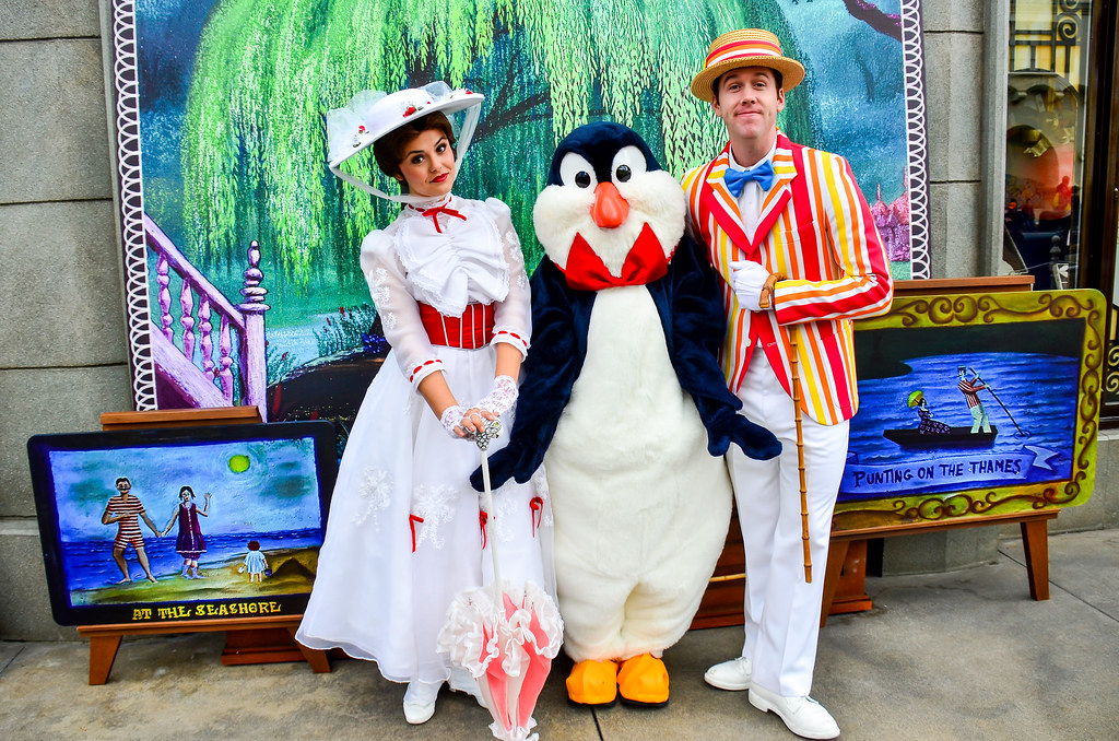 Mary Poppins Bert Penguins Mary Poppins Bert And a