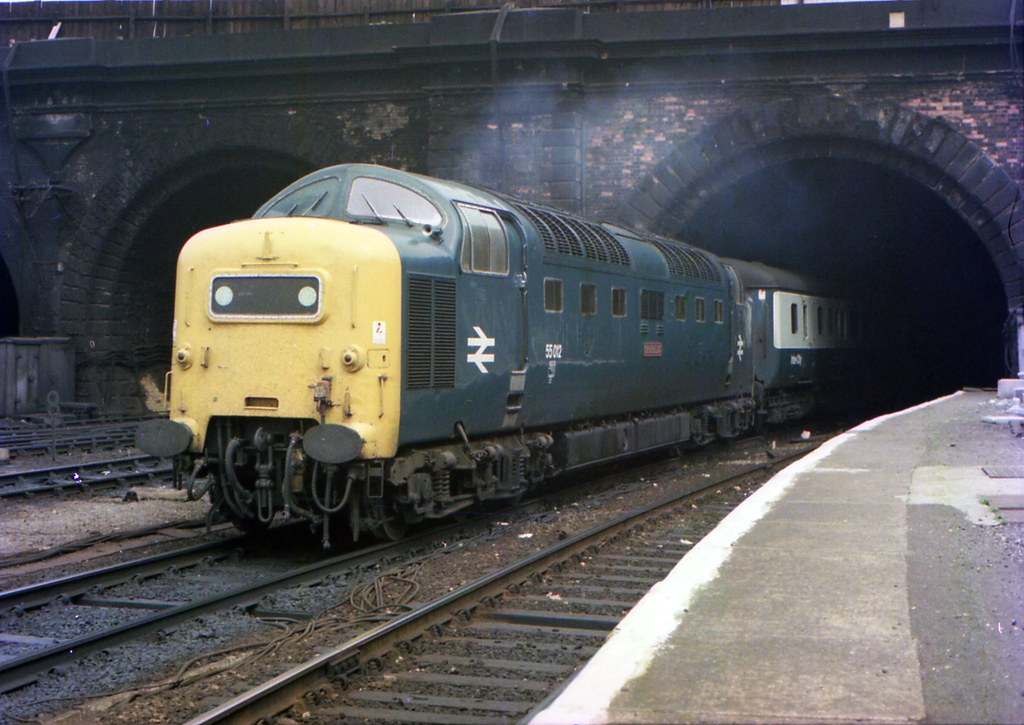 Emerging From Gasworks Tunnel 55 012 Class 55 Quot Deltic