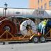 huge fiber optic spools