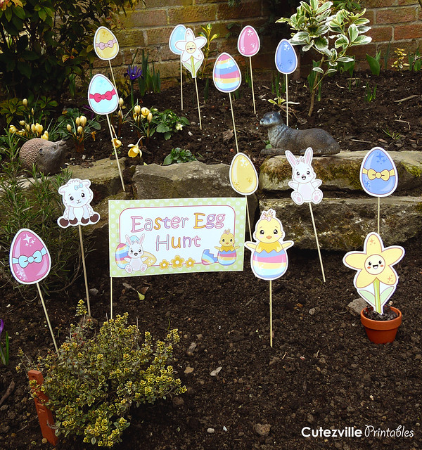 Printable easter egg hunt decorations garden kit pdf for Art decoration pdf
