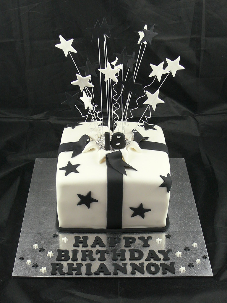 18th Birthday Cake Black And White Theme 18th Birthday