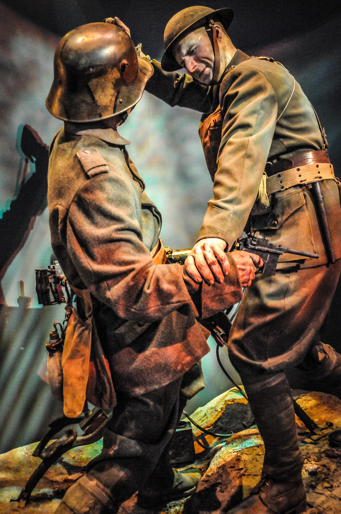 WWI Battle in Belleau Wood at the National Museum of the M ...