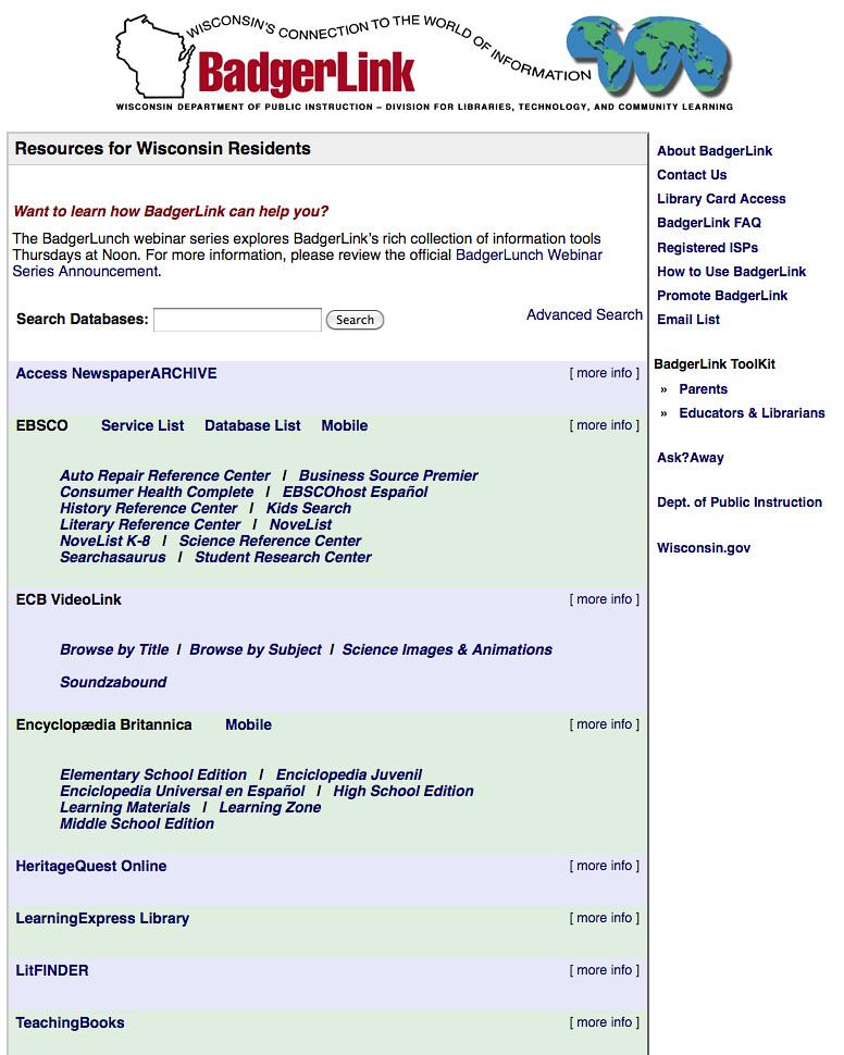BadgerLink, Wisconsin's Online Library | Wisconsin ...