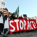 Stop ACTA demonstration held outside The British Music House – London
