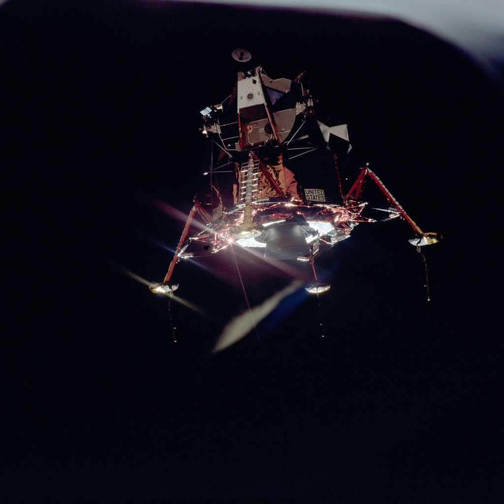 Apollo 11 Mission Image View Of Lunar Module Separation