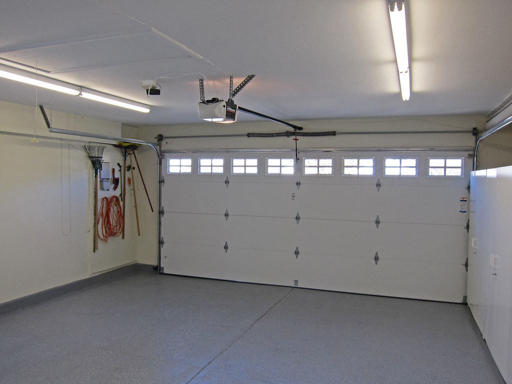 Finished garage interior jim woodward flickr for Finished garages interior