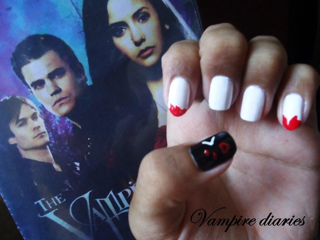 Nail art vampire diaries inara duarte flickr prinsesfo Gallery