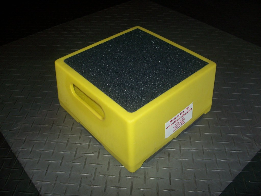 """6 Inch Step Stool Yellow   6 Inch Step Stool Yellow is 6""""H ..."""