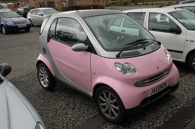 pink smart car flickr photo sharing. Black Bedroom Furniture Sets. Home Design Ideas