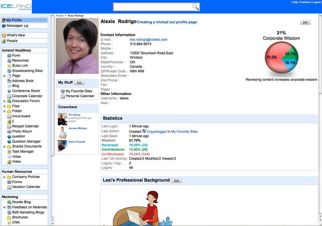 All Sizes  Social Intranet Feature Employee Profile Page In Noodle