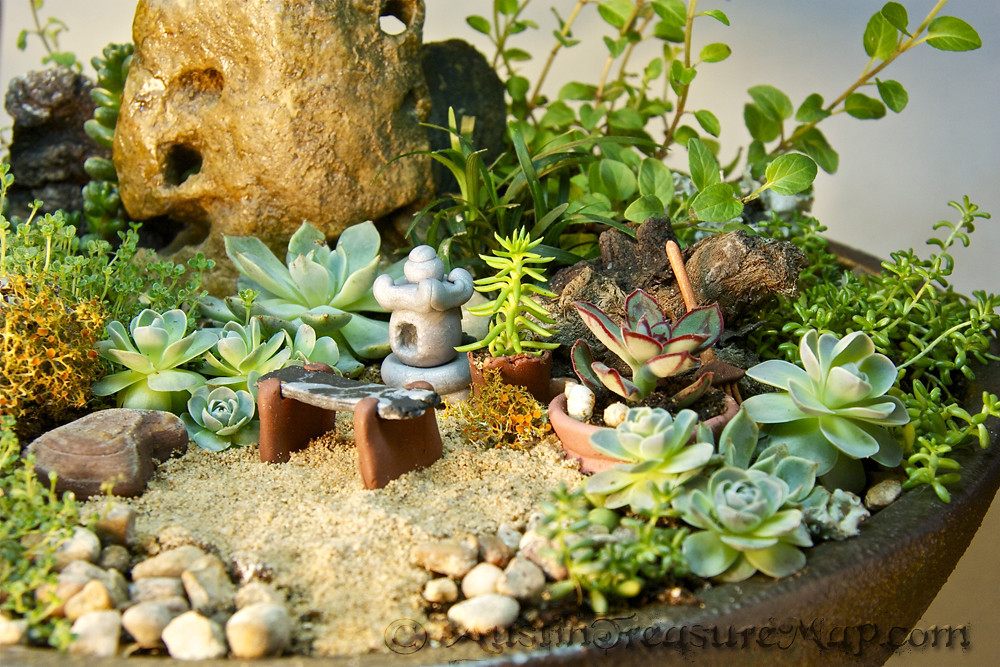 miniature zen garden close up miniature japanese tea garde flickr. Black Bedroom Furniture Sets. Home Design Ideas