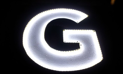 1/5 of illuminated GLOBE sign | by Mr Shiv