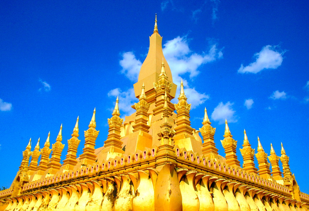 Golden temple (Wat Pha That Luang) Vientiane, Laos | Flickr