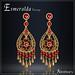 Esmeralda earrings gold red