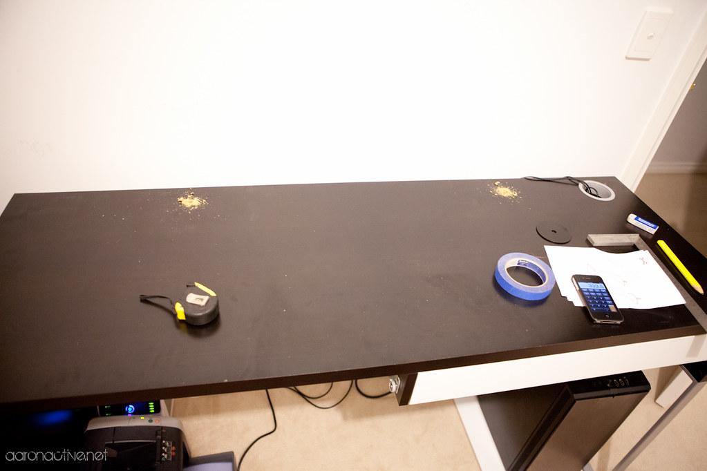 Ikea Micke Desk Hack Drilled Micke Desk Ready To